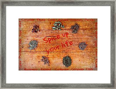 Spice Up Your Life Framed Print by Clare Bevan