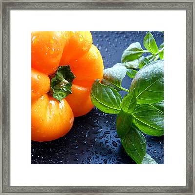 Spiced Pepper Framed Print by Pete Trenholm