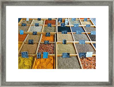 Spices And Herbs Framed Print by Olivier Le Queinec