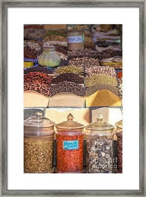 Spices For Sale At Kashgar Bazaar Framed Print by Matteo Colombo