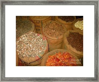 Spices From The East Framed Print