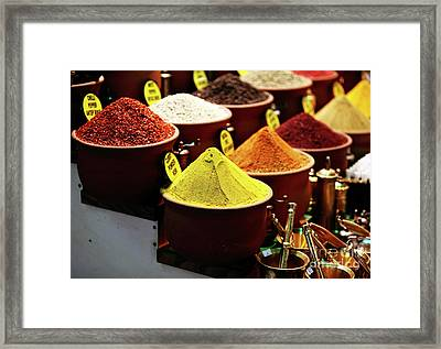 Spices Framed Print by John Rizzuto