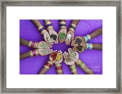 Spices Of India Framed Print