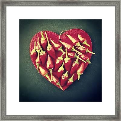 Spicy Love! Buon San Valentino! Framed Print