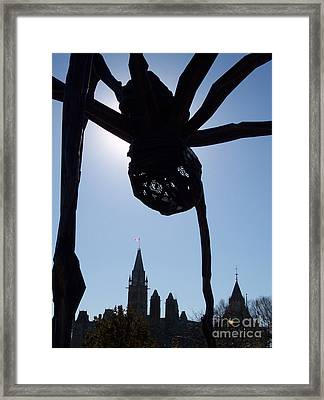Spider Attacks Parliament Framed Print by First Star Art