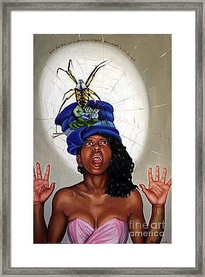Spider Hat Framed Print by Shelley Laffal