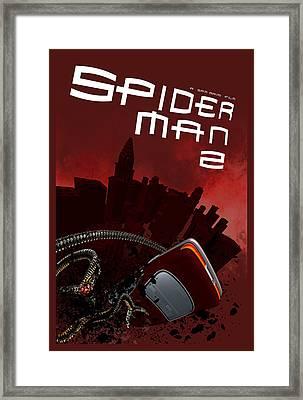 Spider-man 2 Alternative Poster Framed Print by Edgar Ascensao