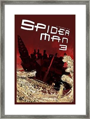 Spider-man 3 Alternative Poster Framed Print by Edgar Ascensao