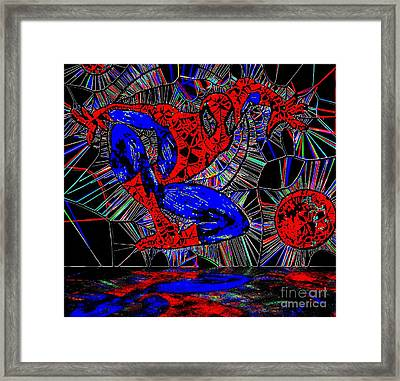 Spider-man Out Of The Web 2 Framed Print by Saundra Myles