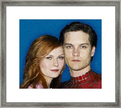 Spider Man Framed Print by Samuel Majcen