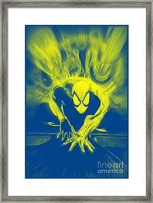 Spider-man Y B Blast Framed Print