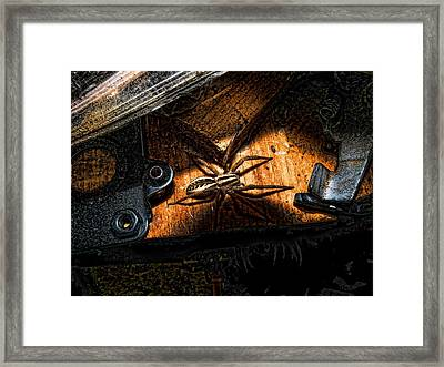 Framed Print featuring the digital art Spider Of The Midnight Lite by Robert Rhoads