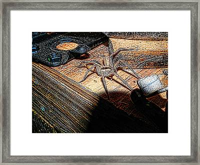Framed Print featuring the digital art Spider On The Move by Robert Rhoads