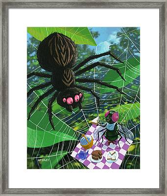 Spider Picnic Framed Print