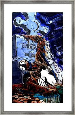 Spider Resurrection Painting Framed Print by Justin Moore