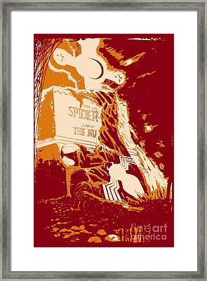 Spider Resurrection Poster Framed Print by Justin Moore