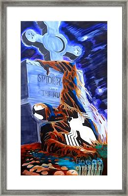 Spider Resurrection Watercolor Framed Print