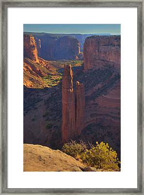 Framed Print featuring the photograph Spider Rock by Alan Vance Ley