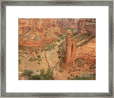 Spider Rock Framed Print by Bob and Nancy Kendrick