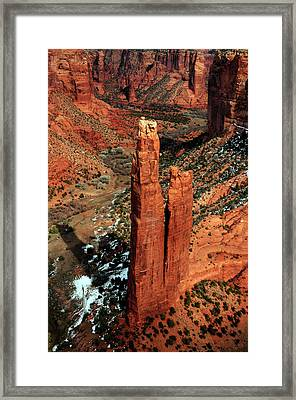Spider Rock, Canyon De Chelly, Arizona Framed Print by Michel Hersen