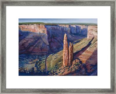 Spider Rock Canyon De Chelly Az Framed Print