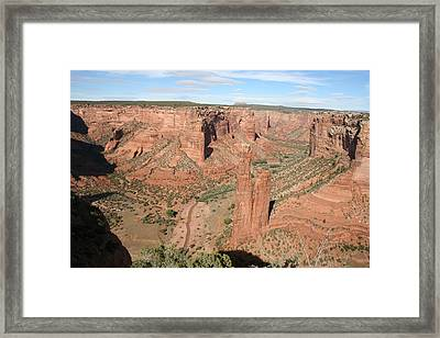 Spider Rock  Canyon De Chelly Framed Print by Christiane Schulze Art And Photography