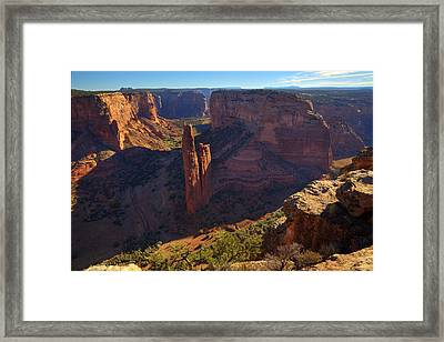 Framed Print featuring the photograph Spider Rock Sunrise by Alan Vance Ley