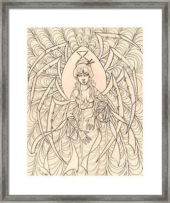 Spider Seer Sketch Framed Print by Coriander  Shea