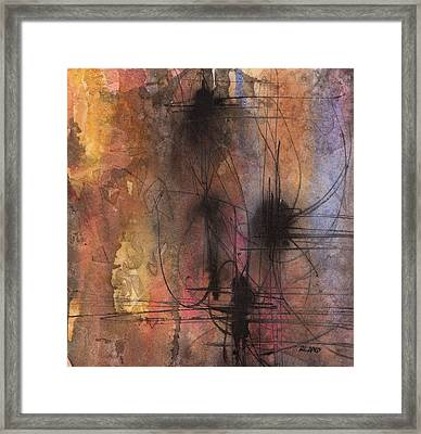 Framed Print featuring the painting Spider Smush by Rebecca Davis