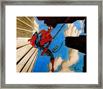 Spiderman Framed Print by Artistic Indian Nurse