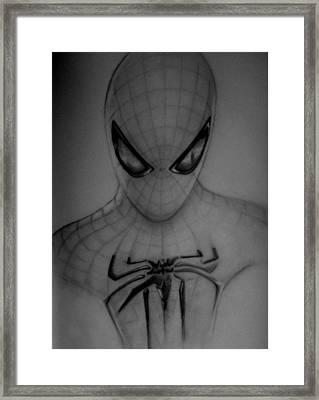 Spiderman Framed Print by Chris Vanellis
