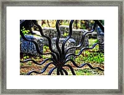 Spiders Gate Cemetery Framed Print by Mike Martin