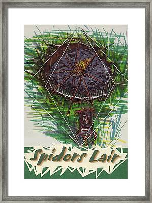Spiders Lair Framed Print by Jason Girard