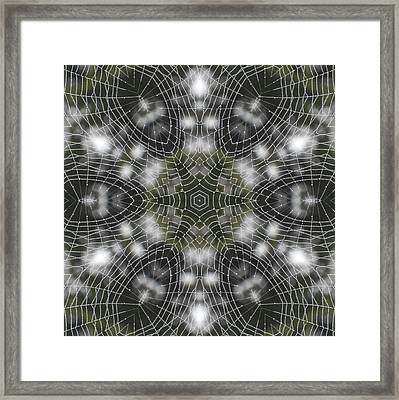 Framed Print featuring the digital art Spiderweb In Black by Trina Stephenson
