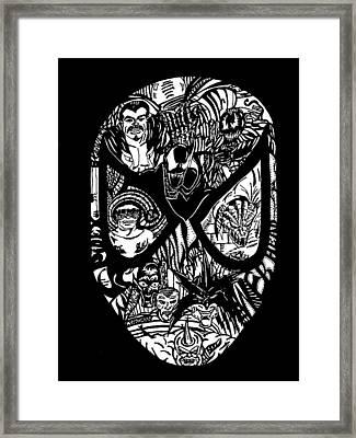 Spidey Framed Print by GR Cotler