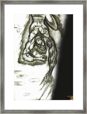 Spidy Wall-crawler Framed Print by Jazzboy
