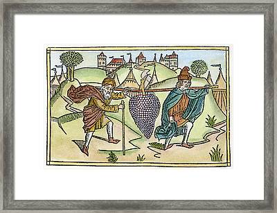 Spies Sent To Canaan Framed Print