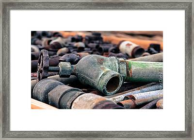 Spigots And Pipes Framed Print by Diana Shay Diehl