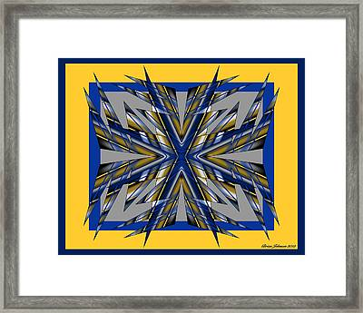 Framed Print featuring the digital art Spike 1 by Brian Johnson