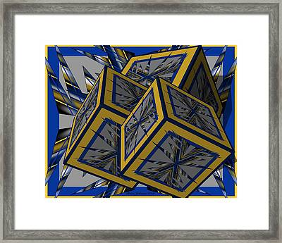 Spike Cubed 3d Framed Print by Brian Johnson