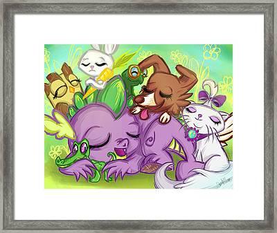 Spike Zzzzzzz Framed Print by Sarah Bavar