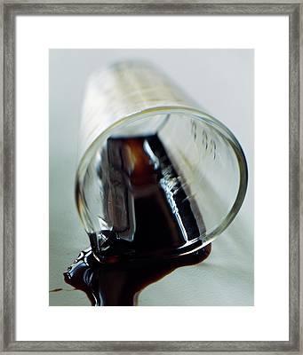 Spilled Balsamic Vinegar Framed Print