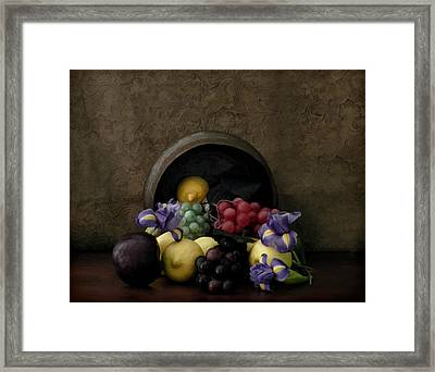 Spilled Fruit Framed Print