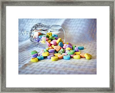 Spilled My Heart Out Framed Print by Cricket Hackmann