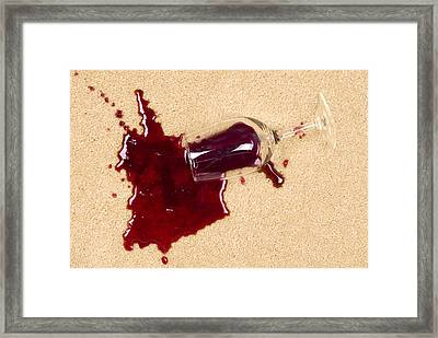 Spilled Wine On Carpet Framed Print