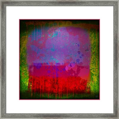 Spills And Drips Framed Print