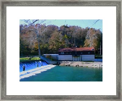 Spillway Framed Print by Julie Grace