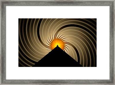 Framed Print featuring the digital art Spin Art by GJ Blackman