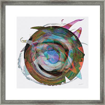 Framed Print featuring the digital art Spin One by David Klaboe