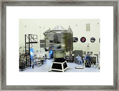 Spin Test Of The Maven Spacecraft Framed Print by Nasa